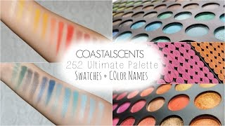 Coastal Scents 252 Palette Swatches + COLOR NAMES!