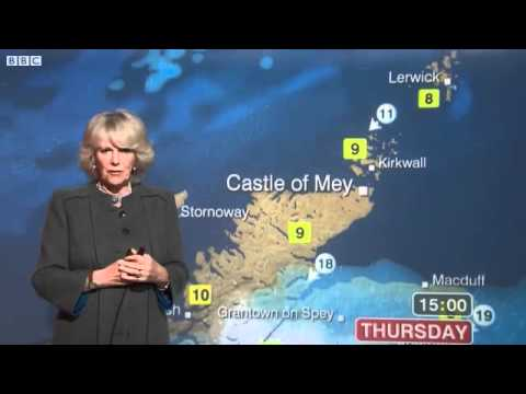 Prince Charles's wife Camilla, Duchess of Cornwall, turns BBC weather presenter