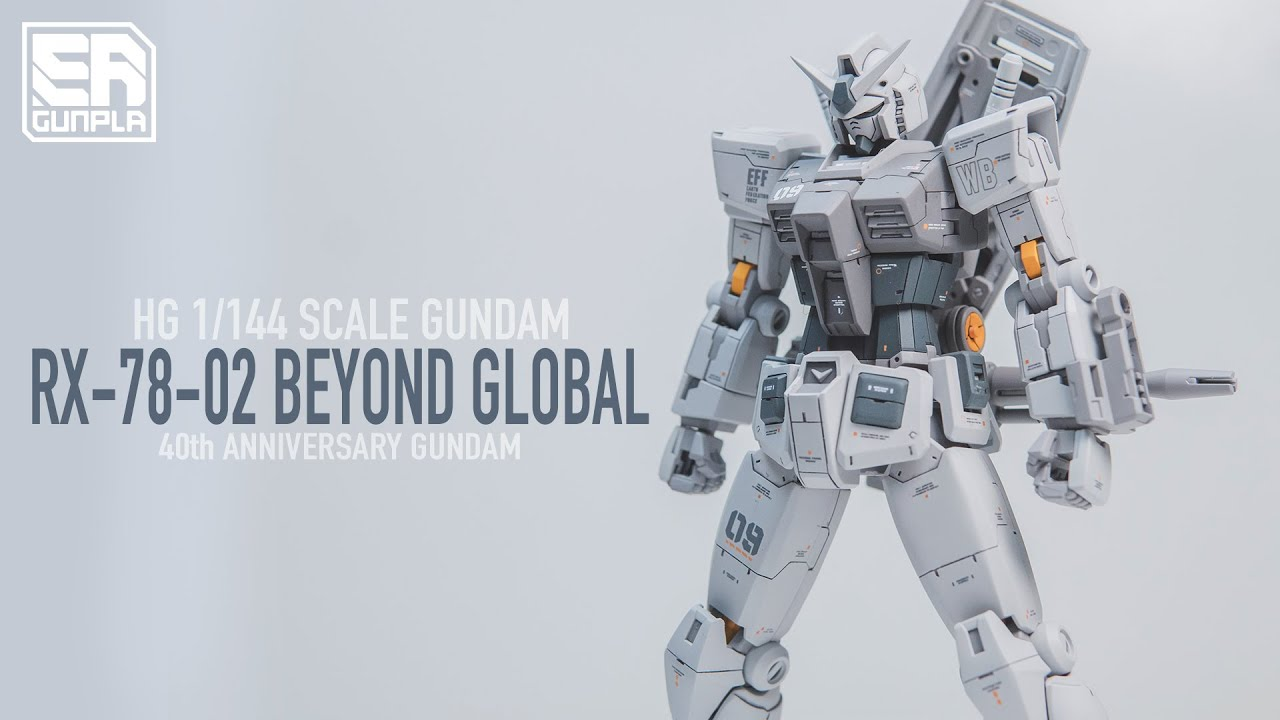CUSTOM BUILD GUNPLA HG RX-78-02 BEYOND GLOBAL + GUNPRIMER GIVEAWAY WINNER!