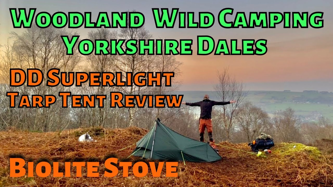 Woodland solo WILD CAMPING in the YORKSHIRE DALES uk DD ...