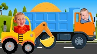 Синий трактор Песенки для детей | Машинки и Супер грузовик | Марколи