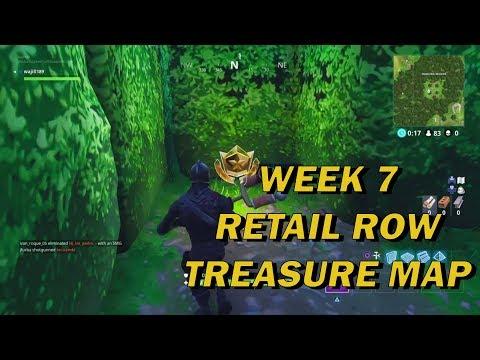 Fortnite - Retail Row Treasure Map Location
