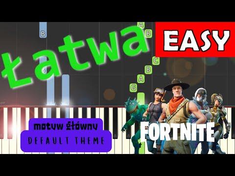 🎹 Fortnite (Motyw główny, default theme) - Piano Tutorial (łatwa wersja) (EASY) 🎹