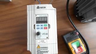 Налаштування перетворювача частоти Delta VFD015M21A