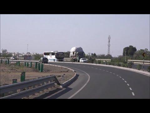 Beautiful Rajkot - Jamnagar National Highway Coverage Onboard Volvo Bus of Patel Travels !!!