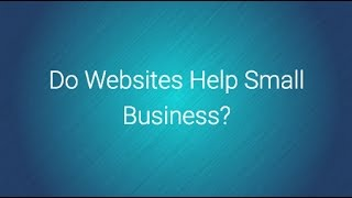 do websites help small business