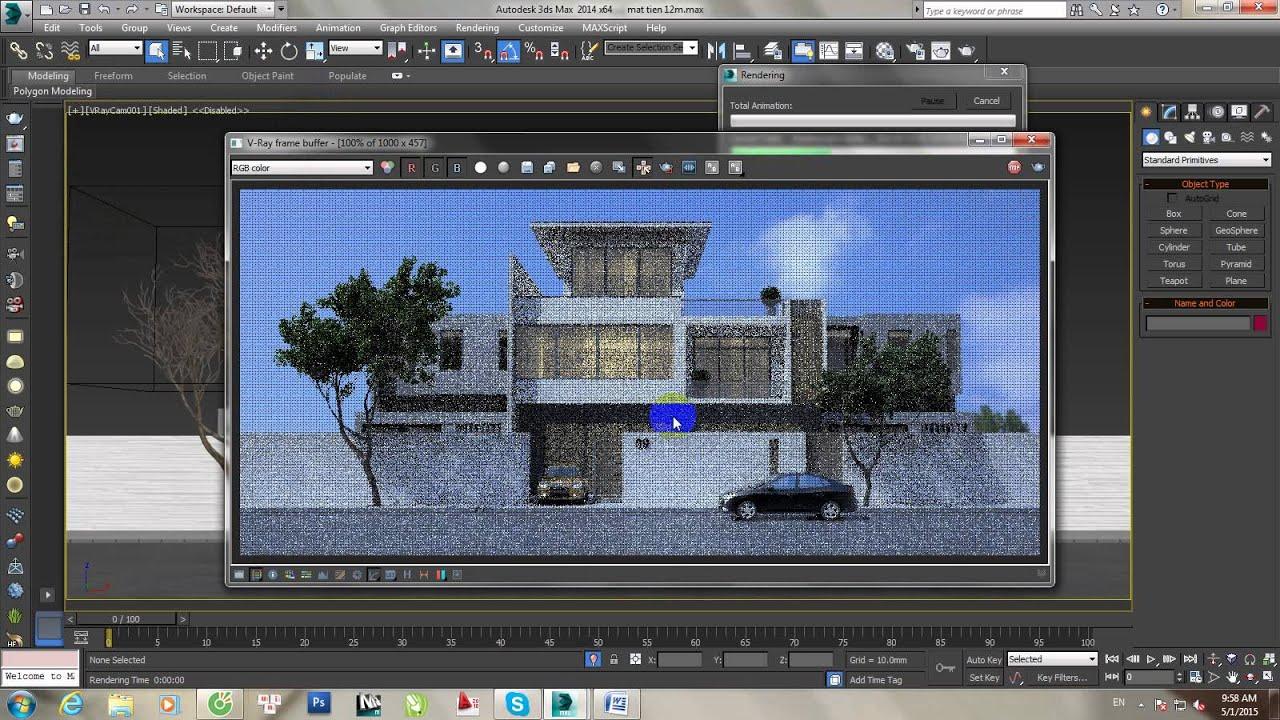 3Ds Max Studio - Hướng Dẫn cánh xuất file ảnh từ gama 1.0 sang 2.2 trong 3Ds Max