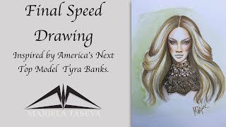 Final Speed Drawing inspired by Tyra Banks.