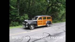 1948 Ford Super Deluxe Station Wagon Woodie Woody FOR SALE www.petersmotorcars.com
