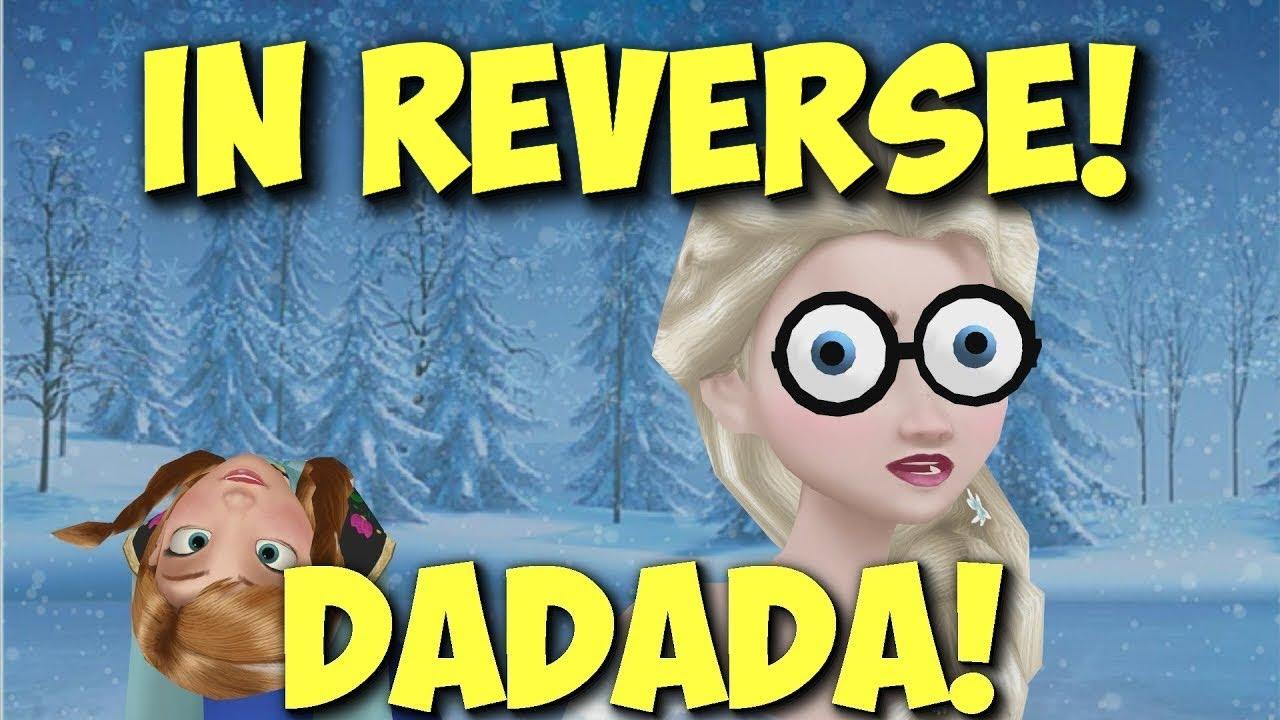 "Download MMD Frozen 2 ""Elsa and Anna sing DaDaDa"" IN REVERSE! funny backwards animated cartoon meme II Disney"