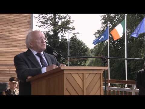 Michael D Higgins, President of Ireland opens the Castlesaunderson International Scout Centre