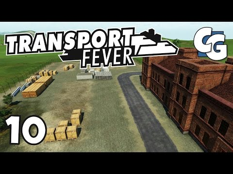 Transport Fever - Ep. 10 - End-to-End Goods Supply Chain Setup - Transport Fever Gameplay