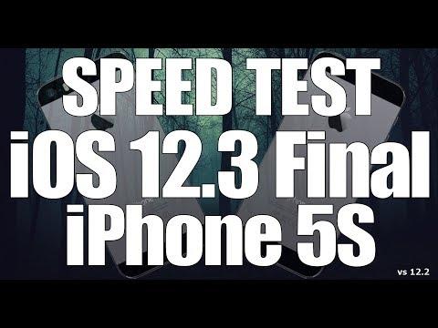 Speed Test : iOS 12.3 Final on iPhone 5S vs iOS 12.2 (Build 16F156)