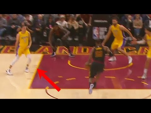 Download Youtube: Lonzo Ball RUNS AWAY FROM LEBRON JAMES DUNK - LeBron James vs Lonzo Ball - Cavaliers vs Lakers