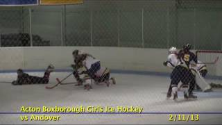 Acton Boxborough Varsity Girls Hockey vs Andover 2/11/13