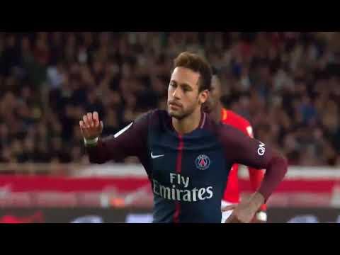 Monaco vs psg 1-2    all highlights & goals     ligue 1 (neymar)