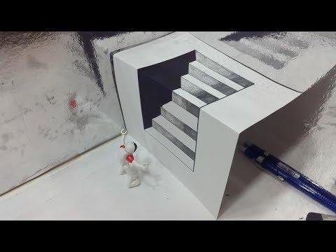 Belajar cara menggambar 3D di kertas untuk pemula yang ...