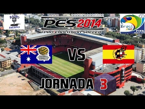 PES 2014 PSP   Copa Mundial FIFA Brasil 2014   Jornada 3   Australia VS España(HD)