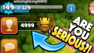Clash of Clans - ARE YOU SERIOUS?! 1 TROPHY AWAY FROM LEGENDS LEAGUE! Did We Do it??