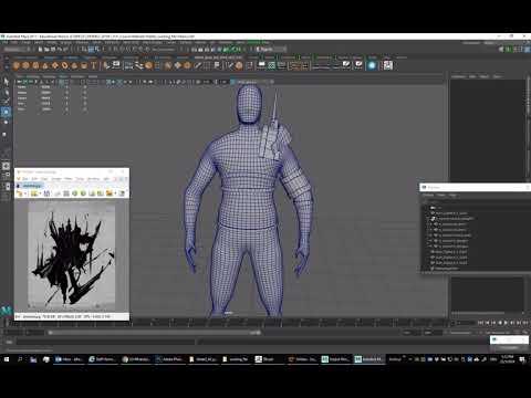 Zbrush Villain Character 1 - Character Basic mesh, clothing, equipment basic blockout