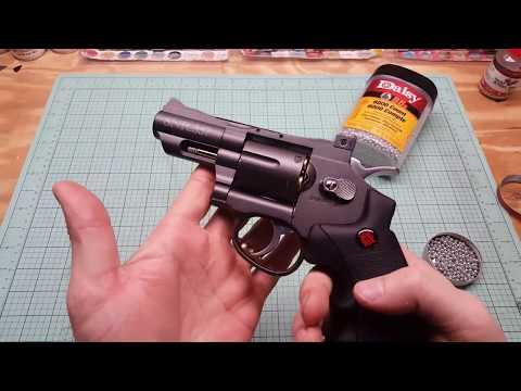 Crosman snr 357 shooting/loading - YouTube