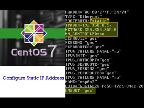 How to set ip address in centos 7
