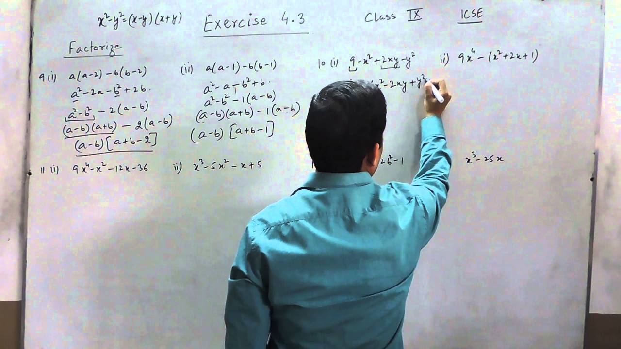 Exercise 4.3 (Q9-Q12) Solution for Class 9th Understanding ICSE ...
