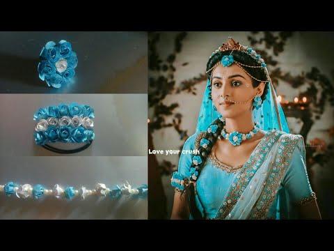 How to make Radha's Inspired Holi Jewellery #3 || Mallika Singh || Radhakrishna Serial ||