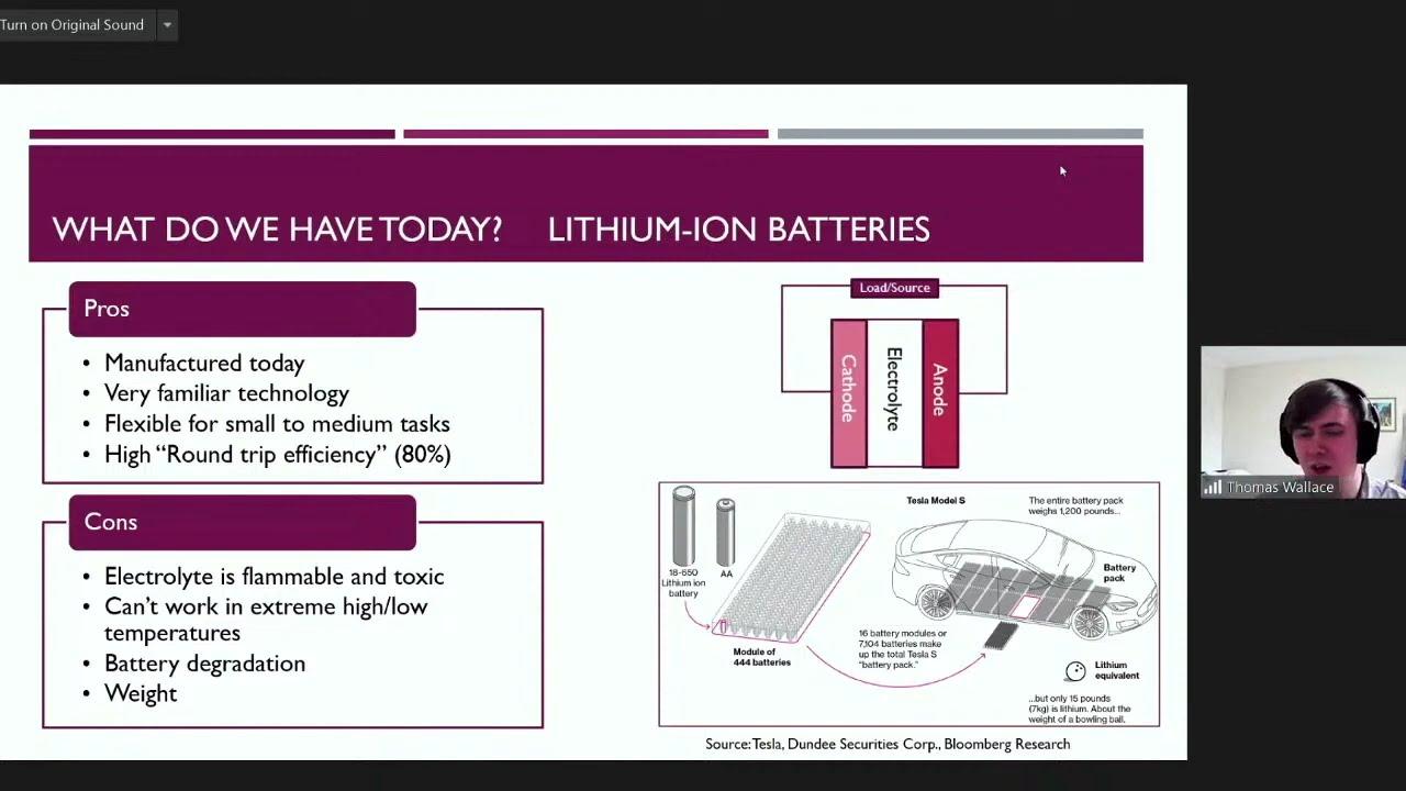 Thomas Wallace - Alternative Energy Storage Technology