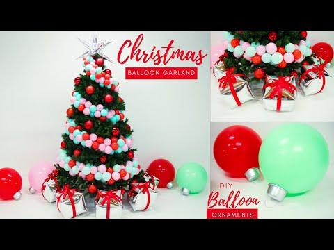 christmas-balloon-garland- -balloon-ornaments-diy