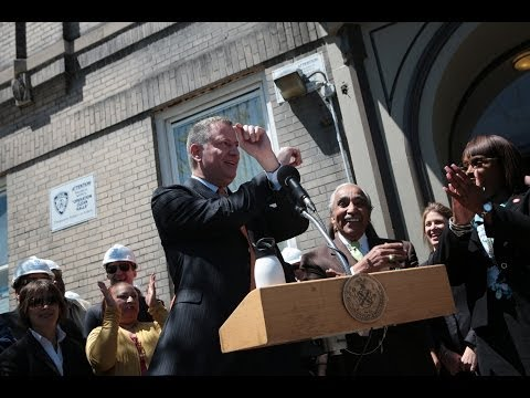 "Mayor Bill de Blasio Unveils "" Housing New York"" in the Bronx"