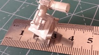 Small revving single-cylinder engine from paper