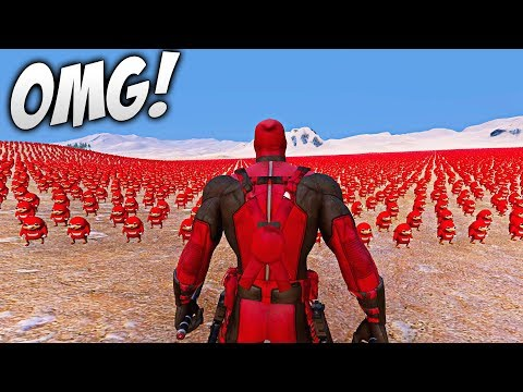 DEADPOOL vs 300.000 UGANDA KNUCKLES  - Ultimate Epic Battle Simulator