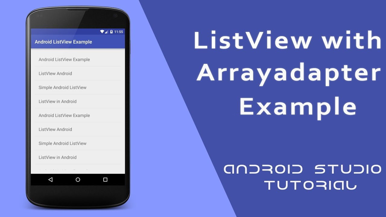 ArrayAdapter Android   Simple ListView   Example  Android Studio Tutorial