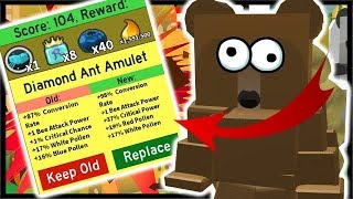 DIAMOND ANT AMULET UPGRADE & 600 ROYAL JELLY! | Roblox Bee Swarm Simulator