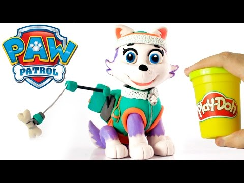 Everest Paw patrol Stop Motion Play Doh claymation animation video patrulla canina