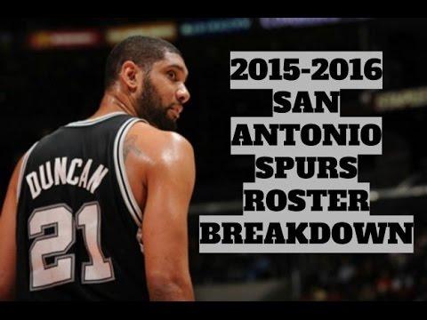 2015-2016 San Antonio Spurs Roster Breakdown: NBA 2k16 Rosters