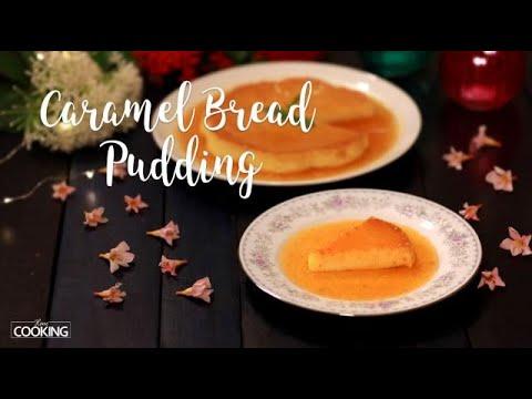 Caramel Bread Pudding | No Oven, No Egg Custard Bread Pudding