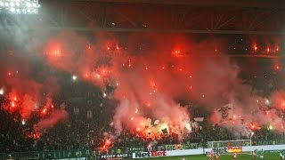 Saint Etienne - Monaco 25 years of Magic Fans tifo pyro