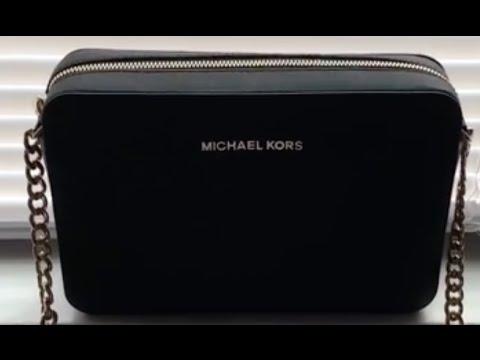 ee5495ada Michael Kors Jet Set Crossbody Bag - Black - YouTube