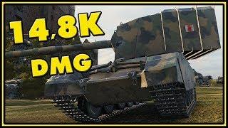 FV4005 Stage II - 14,8K Damage - 30 vs 30 - World of Tanks Gameplay