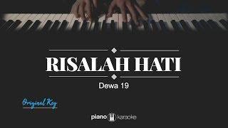 Risalah Hati (Original Key) DEWA 19 (Karaoke Piano Cover)