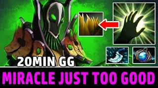 How Miracle- (smurf) Plays Rubick Offlane | Dota 2 Rubick