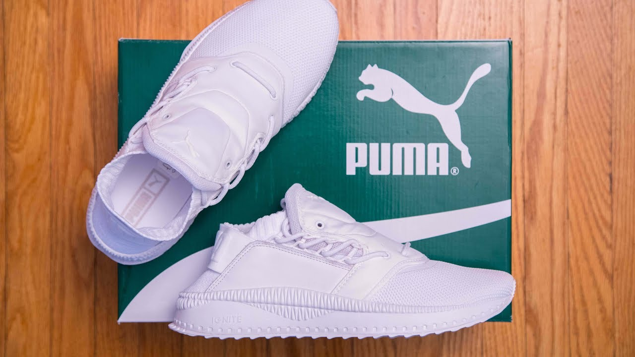e3f690d321e8 Puma Tsugi Shinsei Triple White Review and On Feet - YouTube