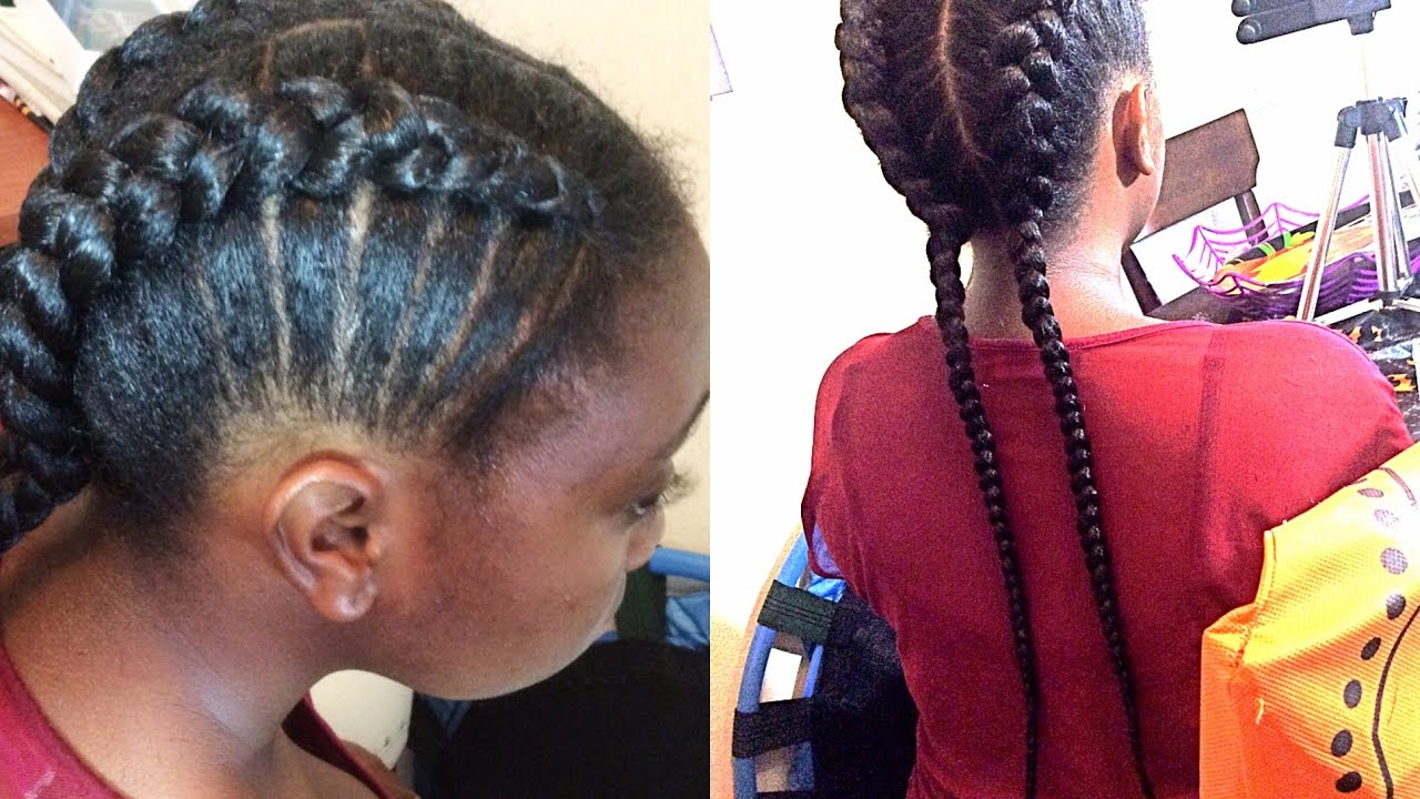 Natural Hair Braids For Kids Braiding For Beginners Supa
