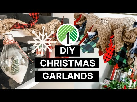 DIY Farmhouse Christmas/Winter Garlands | Day 3 -12 Days Of Christmas