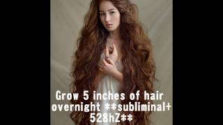Grow 5 Inches Of Hair OVERNIGHT !!100% GUARANTEED!! **affirmat…