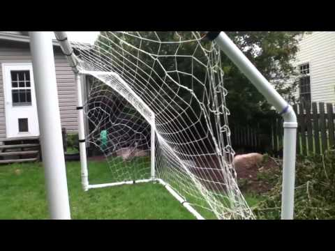 soccer goal made out of pvc pipe youtube. Black Bedroom Furniture Sets. Home Design Ideas