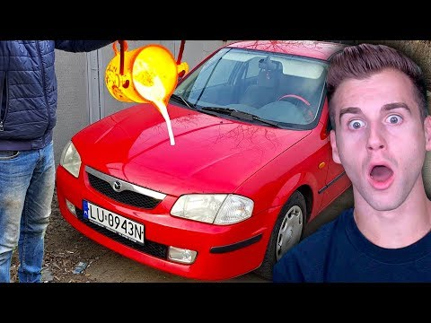 Guy POURS LAVA On His Car...Instantly Regrets It