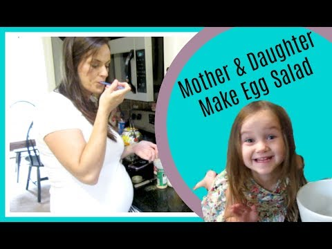 Mother & Daughter Make Egg Salad (June 20, 2017 Vlog)